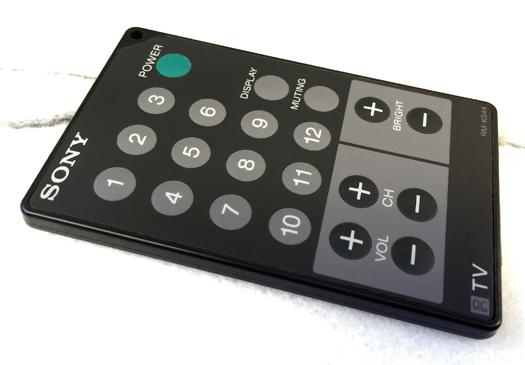 Sony FDL K400 Remote photographed November 4, 2014