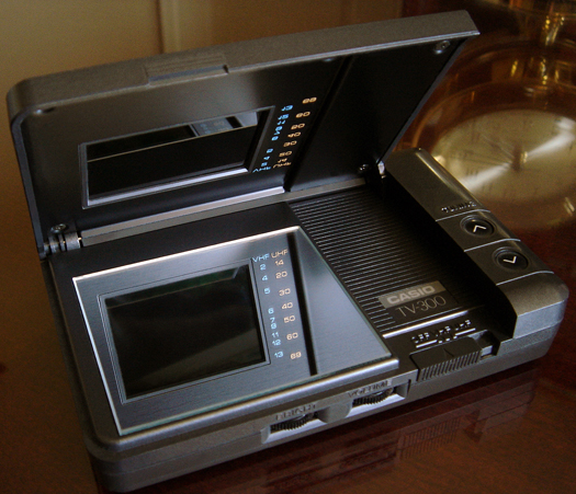 Casio TV 300 Color TV photographed April 25, 2010