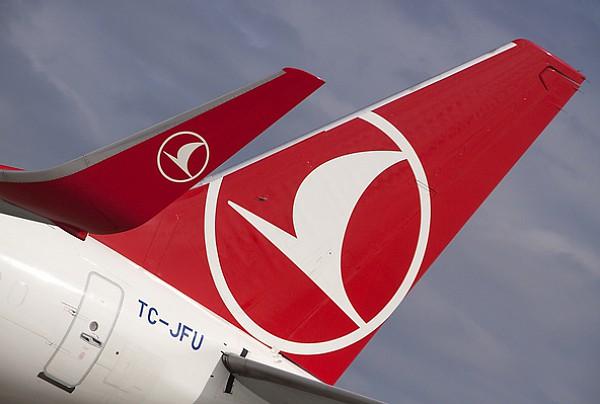 Leitwerk einer Turkish- Airlines-Maschine