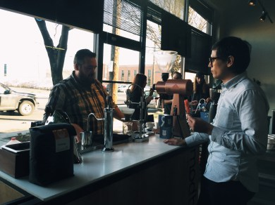 Ben Jones from Ristretto Roasters chats with Will Frith of Modbar.