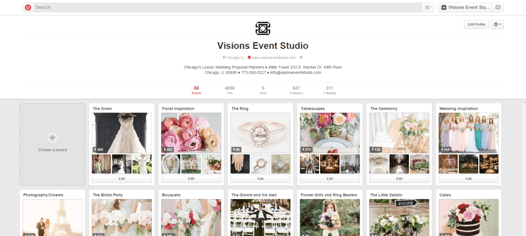 Visions Pinterest Account