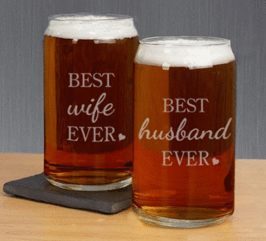 Personalized Best Ever Beer Glass