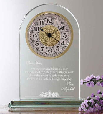Personalized Mother Poem Clock