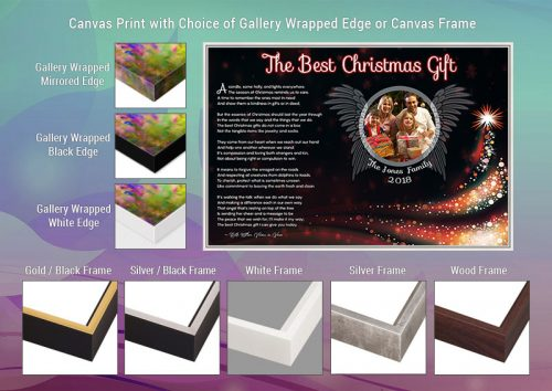 Christmas Angel Wings Canvas Print Gallery Wrapped Edge and Frame Choices