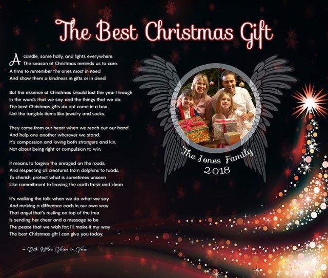 Angel Wings Black Art Poem Personalized Christmas Gift Idea