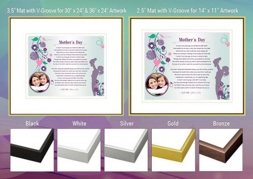 Mother's Day Floral Design Frame and Mat Choices