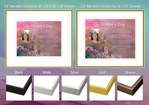 Mother's Day Pink Bridge Frame and Mat Choices