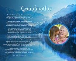 Mountain Scene Art Poem Personalized Grandmother Gift