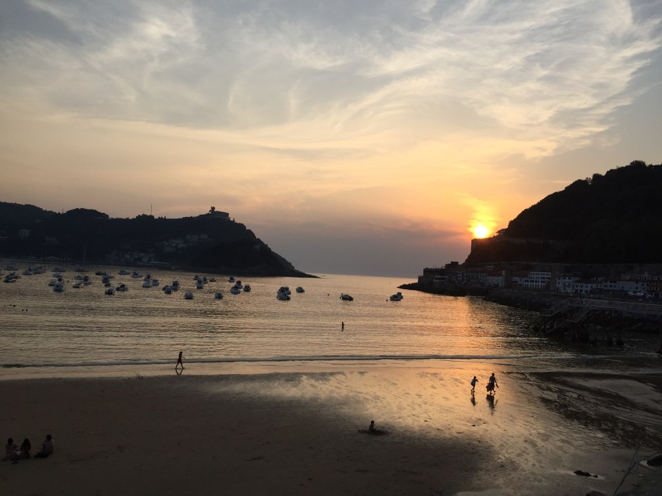 Sunset, San Sebastian