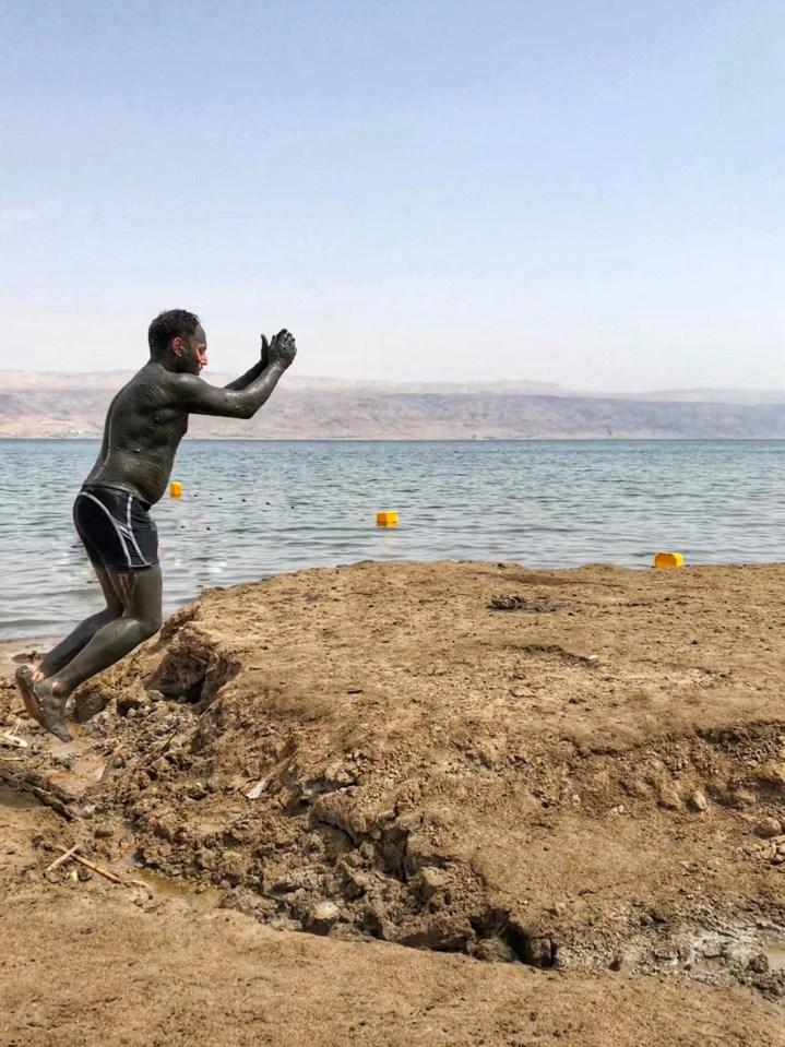 Man, jump, Dead Sea