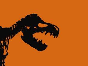 Cartoon shadow of the Tyrannosaurus rex by Mark Carnall