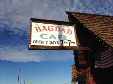 sign outside Bagdad Cafe