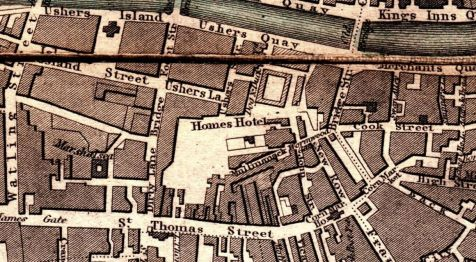 08. Dublin City Map 1848 engraved for the General Post Office (2)