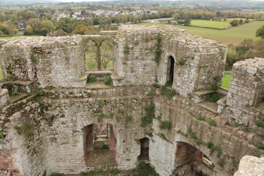 40. Raglan Castle, Monmouthshire, Wales