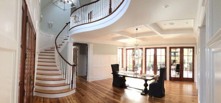 Custom Brightleaf Curved Staircase