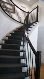 Curved Dark Staircase Vision Stairways