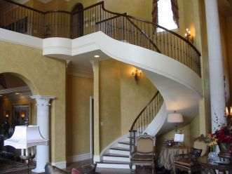 Full Curved Staircase