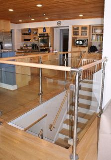 Glass Straight Stairway 1