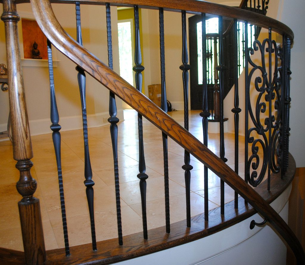 Iron with Custom Wood Rail and Scroll
