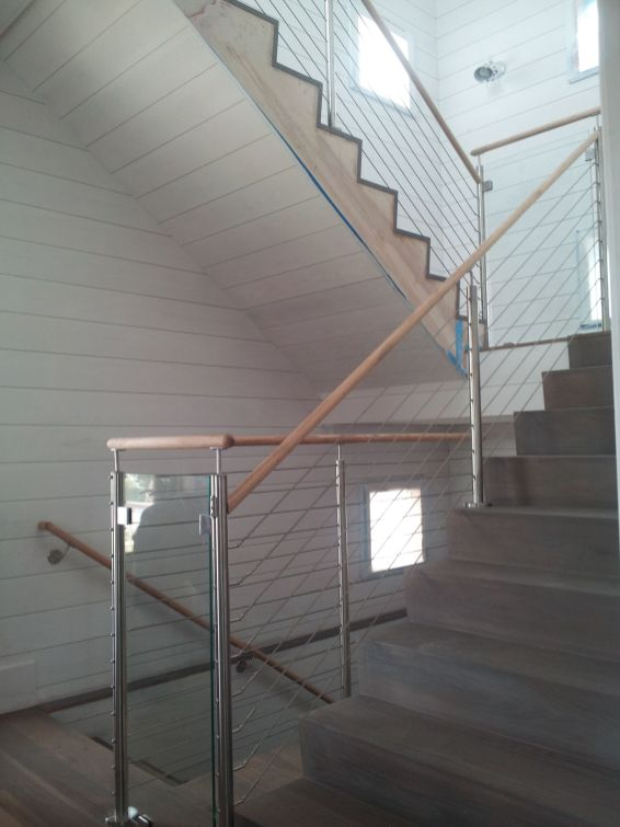 Modern Stair Glass Cable