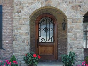 wood wrought iron front doors for residents of cumming ga