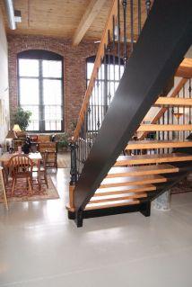 Open Riser Modern Stair 8