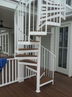 Aluminum Exterior Spiral Stair with treads