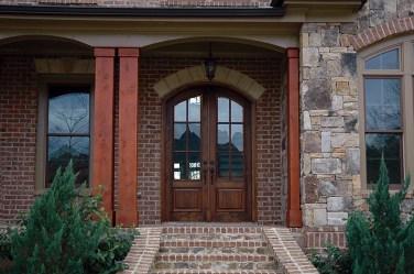 07 - Soft Arched Mahogany Double door