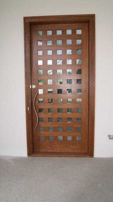 08 - Custom Mahogany Pivot Door