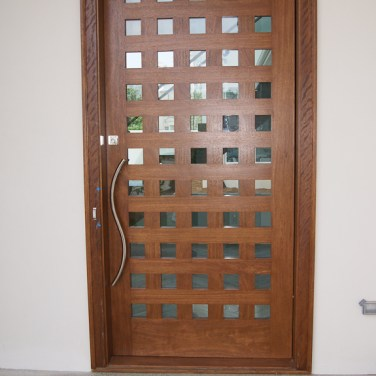 08 - Custom Mahogany Pivot Door