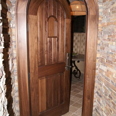 12 - Solid Mahogany Wine Cellar door