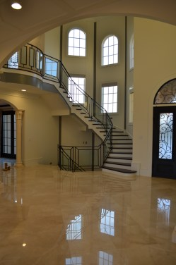 15 - Transitional Glass Straight stairs