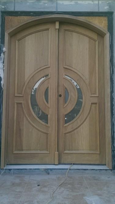 21 - Mahogany custom Double door