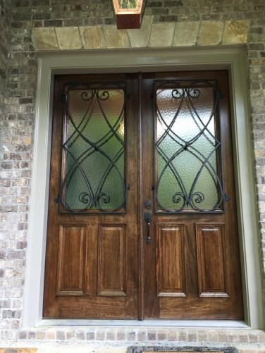 31 - Mahogany Double door with Custom Iron grills