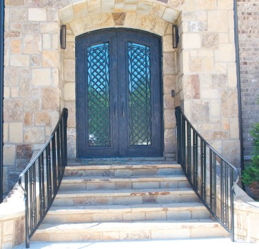 37 - Forged Iron Double door