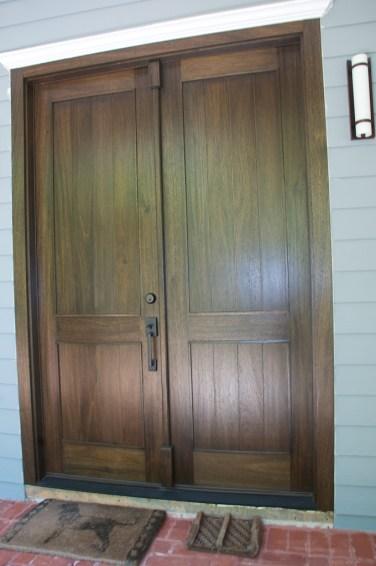 39 - Mahogany solid double doors with Ebony stain