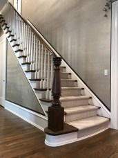 46 - Straight Full open stair with Turned newel post