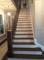 Farmhouse Full open straight stair