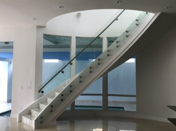 Modern Curve with Marble treads 1