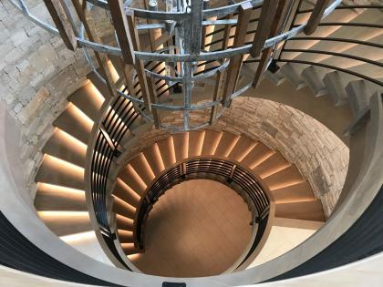 Modern Farmhouse Curve stair two floors