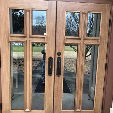 Wood-and-Glass-Entry-Door-with-Cross