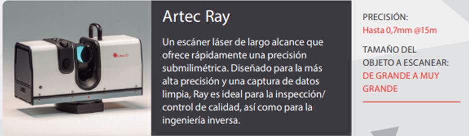 Escaner Artec Ray