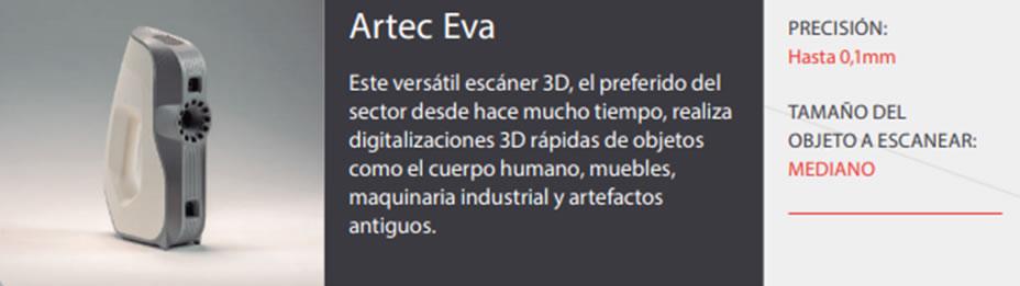Escáners Artec EVA