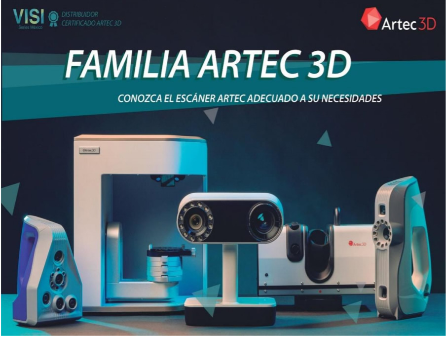 familia de Escáneres Artec 3D