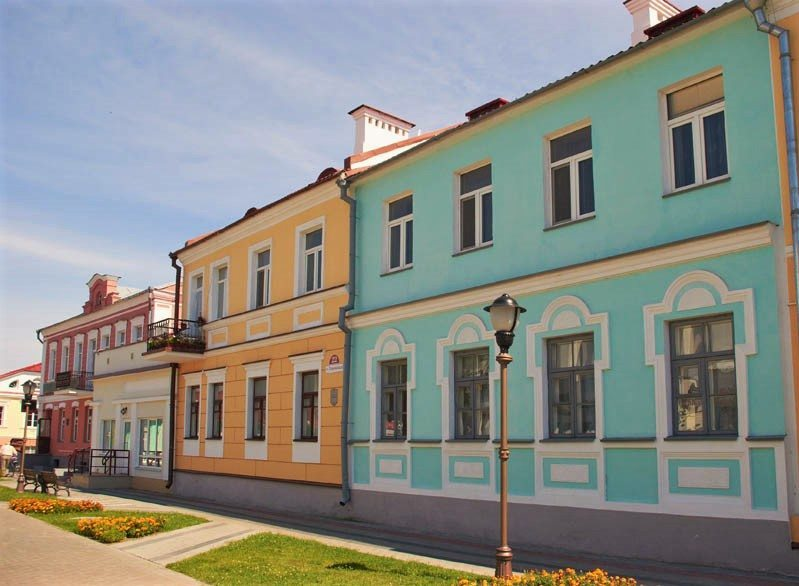 Colorful houses of Pinsk, Belarus