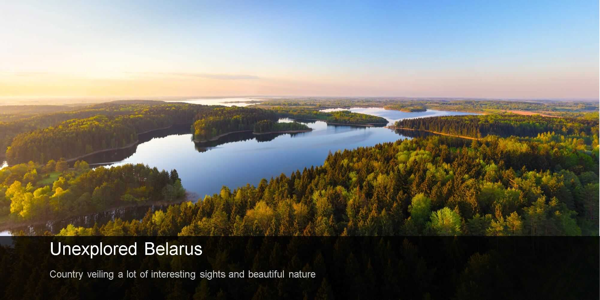 "Sunrise on the forest lake in Belarus, the ""Lungs of Europe"", visit Belarus"