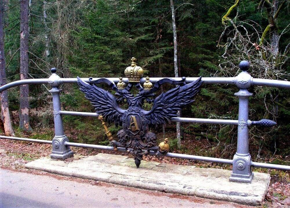 Eagle sign in the Bialowieza Forest