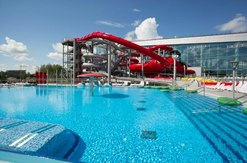 Lebyazhi waterpark in Minsk, Belarus vacations with kids