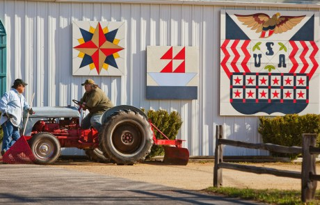Star, Boat, and American Barn Quilts