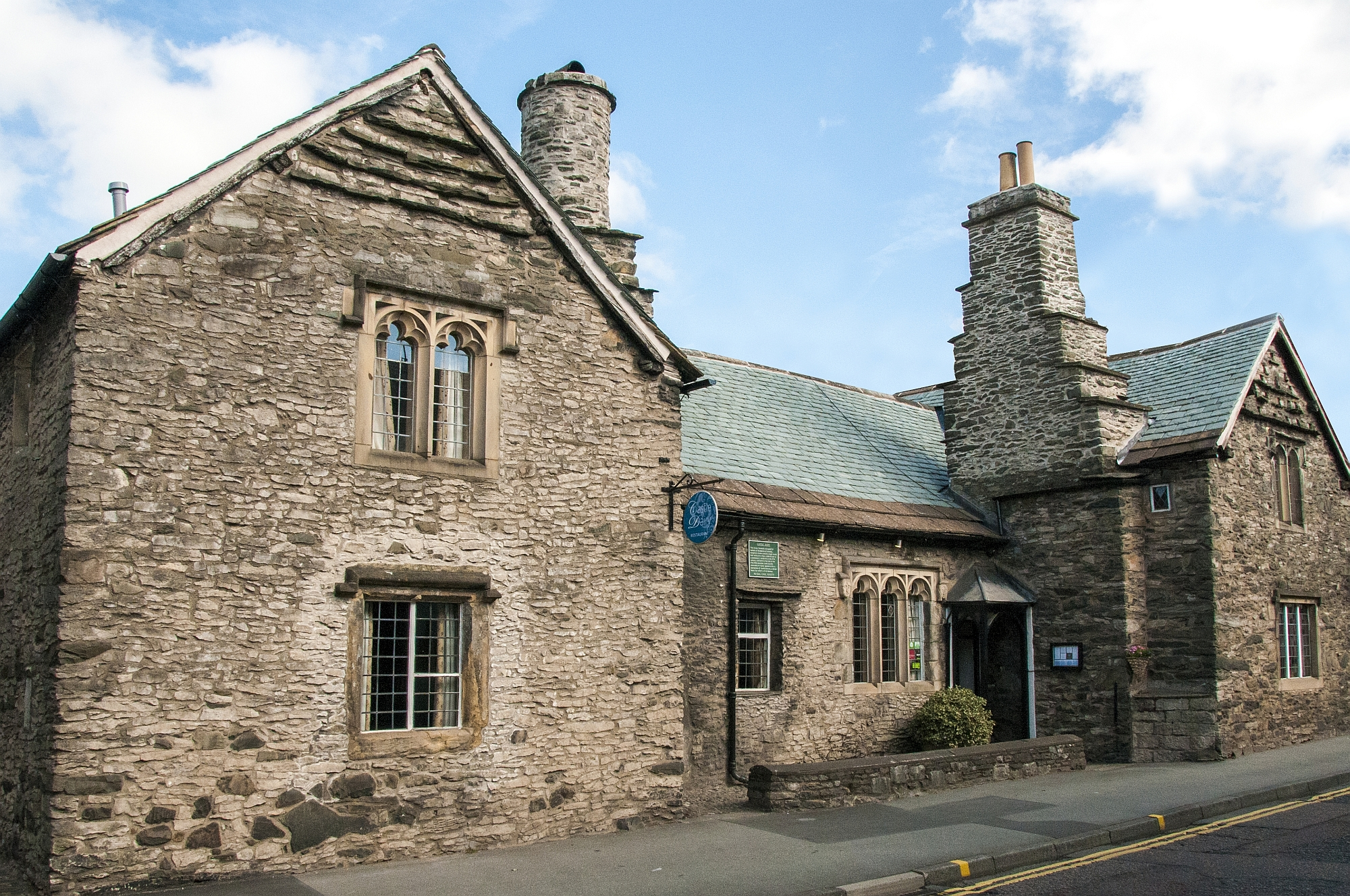 Castle Dairy Restaurant and Art Gallery offers a unique dining experience by 3AA rosette chef Chris O'Callaghan and his Kendal College apprentices in a historic building dating back to the 14th century
